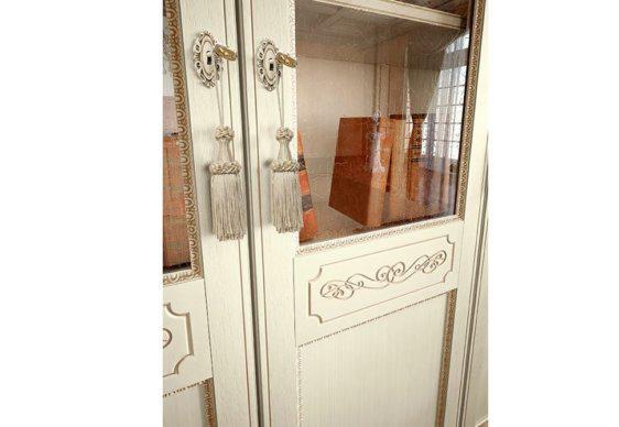 Βιβλιοθήκη με Τζάμι και Ξύλο στις Πόρτες CG-126642
