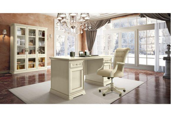 Ivory Γραφείο με Ευρύχωρα Ντουλάπια CG-271059