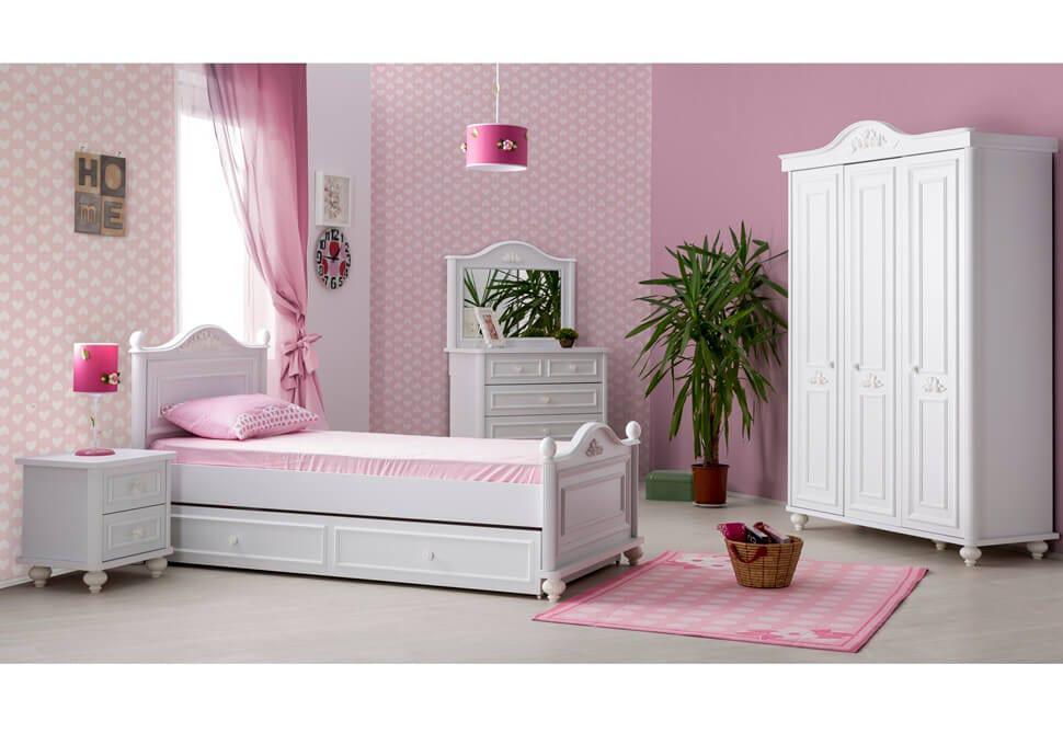 e9a993a4c6b Κοριτσίστικο Vintage Δωμάτιο με Κούνια που Γίνεται Κρεβάτι Bella