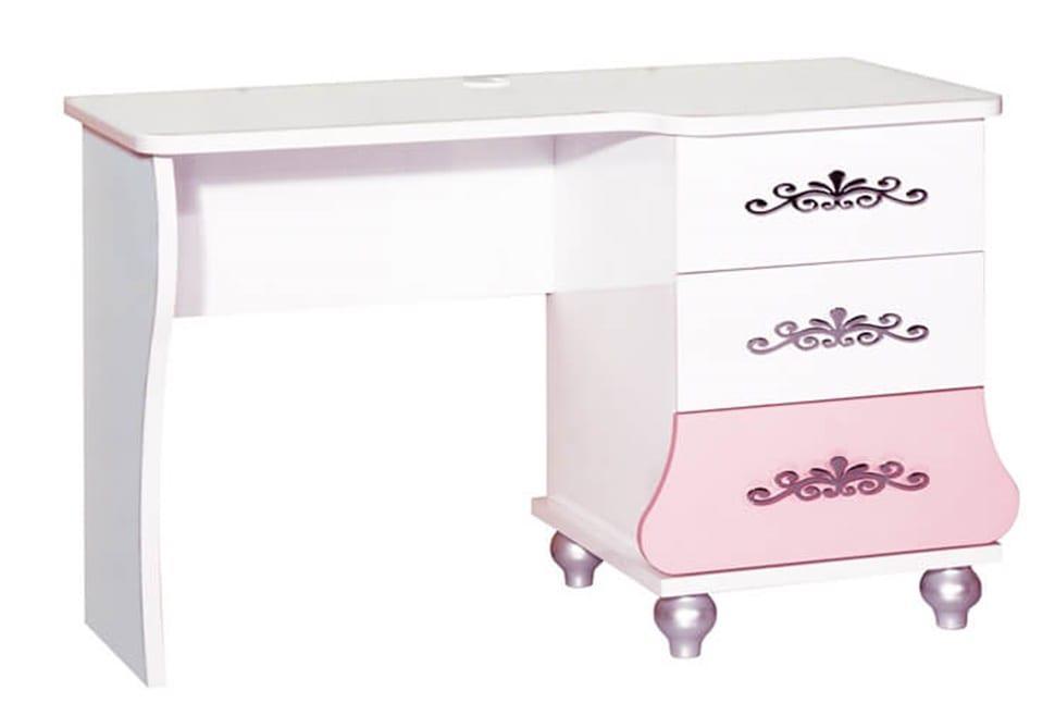 471e9bdadf2 Παραμυθένιο Ροζ Λευκό Παιδικό Γραφείο με Τρια Συρτάρια 131563