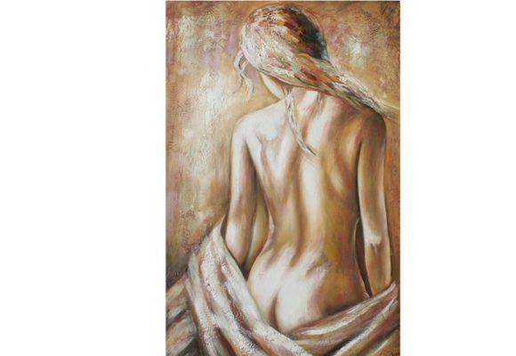 Ανάγλυφος Πίνακας Ζωγραφικής Με Θέμα Ημίγυμνη γυναίκα Μ-210589