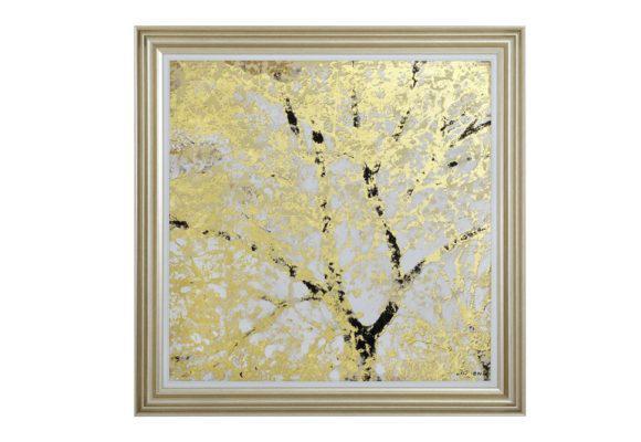 """Καμβάς σε Πίνακα """"Χρυσό Δέντρο"""" Η-210585"""