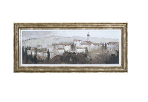 """Πίνακας 114μΧ50υ """"Χωριό της Τοσκάνης"""" Η-210581"""