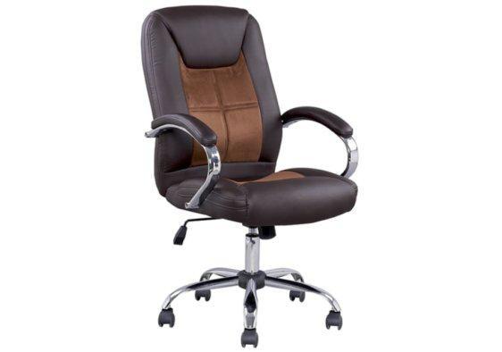 Διευθυντική Καρέκλα Γραφείου με Καφέ Τεχνόδερμα AG-080397