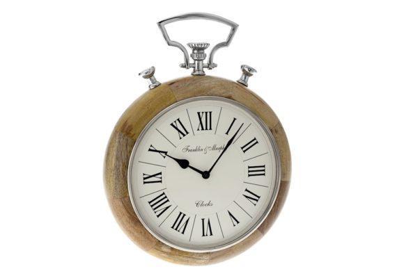 Ξύλινο Ρολόι Με Λατινικούς Αριθμούς Η-147622