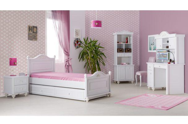 Κοριτσίστικο Μονό Κρεβάτι Vintage με Λουλούδι Bella