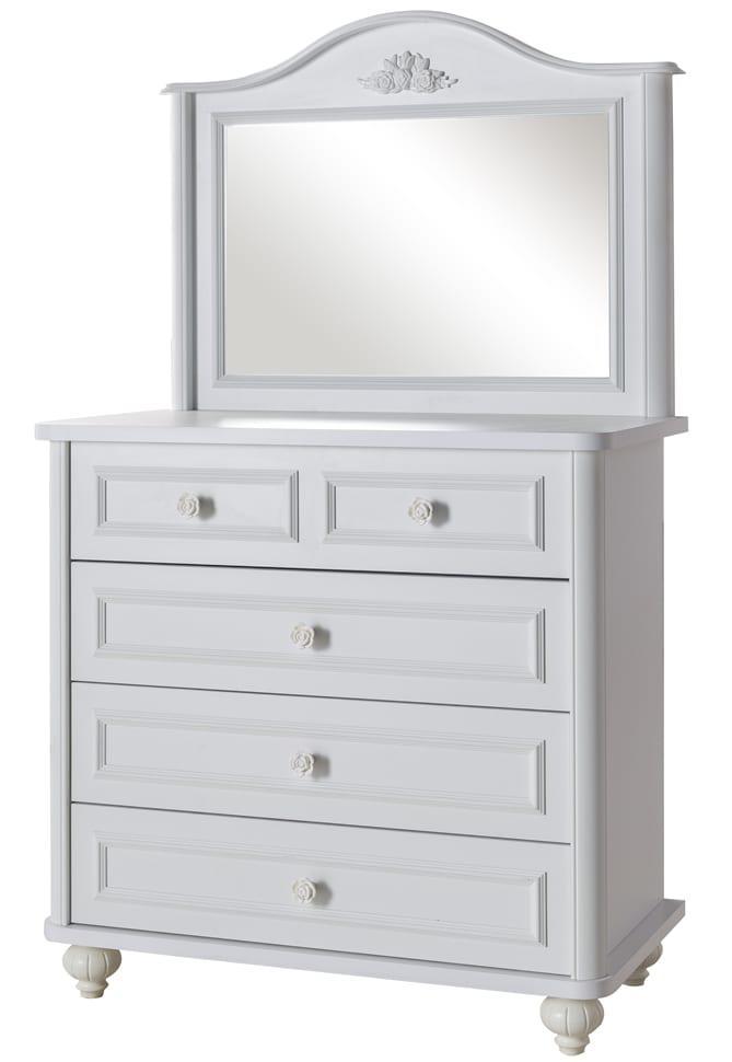 Συρταριέρα Παιδική Vintage Λευκή με Καθρέφτη Bella