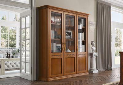 Καρυδί Βιβλιοθήκη με Τρεις Πόρτες CG-126645
