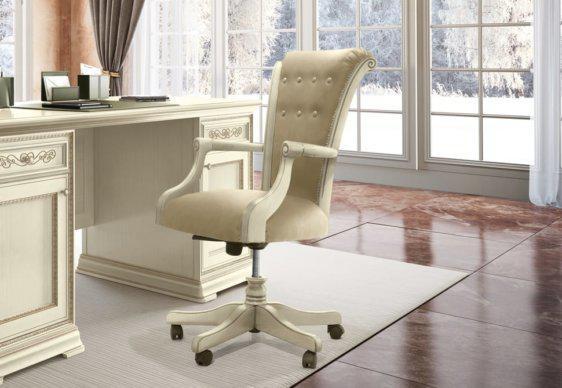 Ιβουάρ Κλασική Τροχήλατη καρέκλα Γραφείου CG- 080400