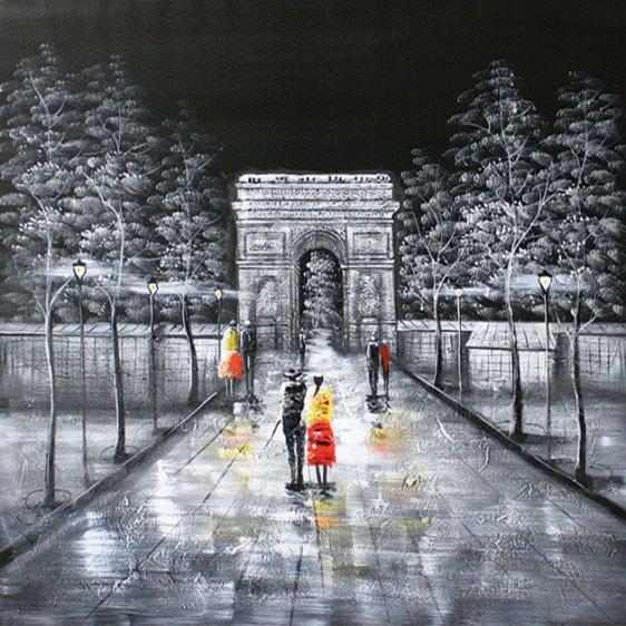 Βόλτα στην αψίδα του θριάμβου στο Παρίσι 100*100εκ Μ-210591