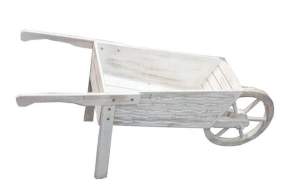 Ξύλινο λευκό καρότσι Μ-217105