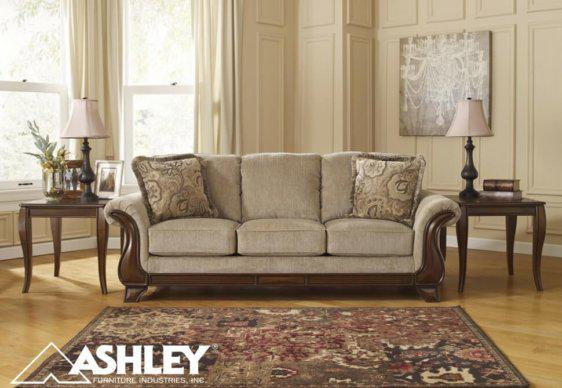 Μοναδικός Καναπές Ashley Τριθέσιος Ξύλινος G-105027