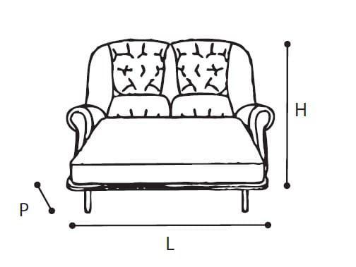 Κλασικός Διθέσιος Καναπές-Κρεβάτι CG-105036