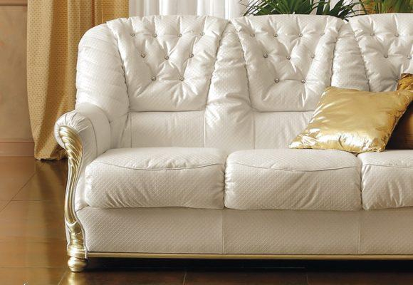 Κλασικός Χρυσός Τριθέσιος Καναπές Κρεβάτι CG-105035