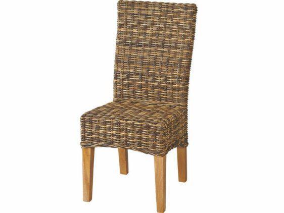 Καρέκλα ρατταν πλεχτή καφέ J-225045