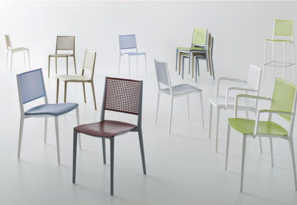 Στοιβαζόμενη Καρέκλα με Πλέγμα στην Πλάτη Kalipa AG-220489