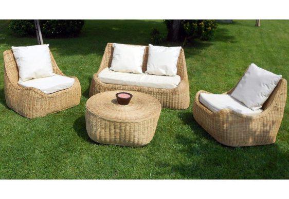 Καθιστικό Σετ Κήπου από Ξύλο Rattan E-225040