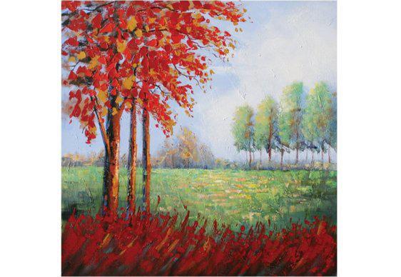 Κόκκινο Δέντρο στην εξοχή 100Χ100 Μ-210604
