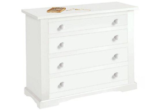 Λευκή Συρταριέρα με Τέσσερα Συρτάρια 90Χ115 ΤΕ-203633