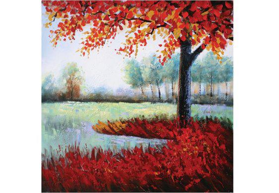 Πίνακας Κόκκινο Δέντρο 100Χ100 Μ-210603