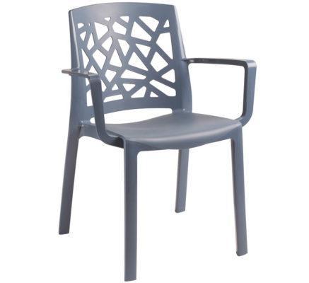 Πλαστική Πολυθρόνα με Εντυπωσιακό Σχέδιο Πλάτης AG-220482