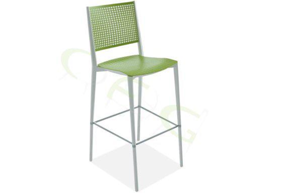 Σκαμπό με Διάτρητη Πλάτη και Ανάγλυφο Κάθισμα AG-220499