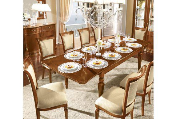 Ανοιγόμενο Τραπέζι με Μαρκετερί Επιφάνεια CG-122070