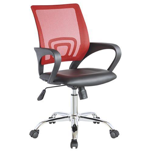 Στυλάτη Καρέκλα Γραφείου από Mesh και Τεχνόδερμα V-080406