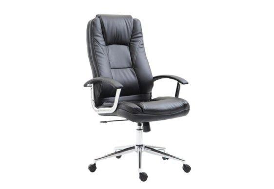 Διευθυντική Καρέκλα Γραφείου από Τεχνητό Δέρμα και Βάση από Χρώμιο 080428