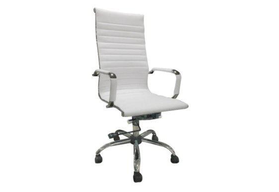 Διευθυντική Καρέκλα με Κομψό Στυλ σε Λευκό Χρώμα Ζ-080440