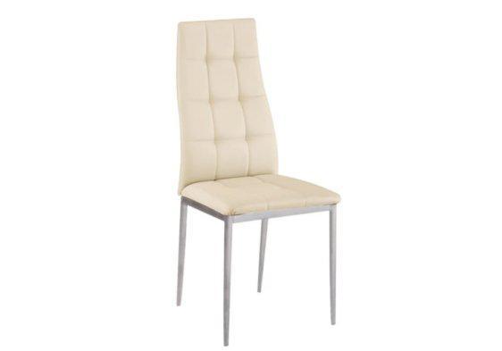 Άνετη Καρέκλα από Δερματίνη σε Κρεμ Χρώμα Z-222077