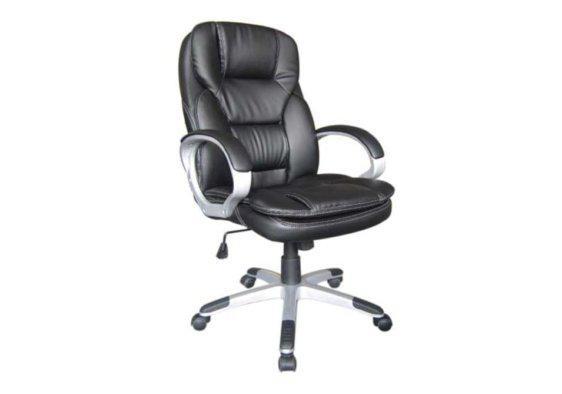 Διευθυντική Καρέκλα Γραφείου με Διπλό Μαξιλαράκι και Στιβαρά Μπράτσα Ζ-080436