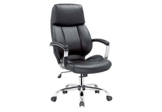 Καρέκλα Γραφείου με Άνετο Προσκέφαλο σε Μαύρο Χρώμα 080454