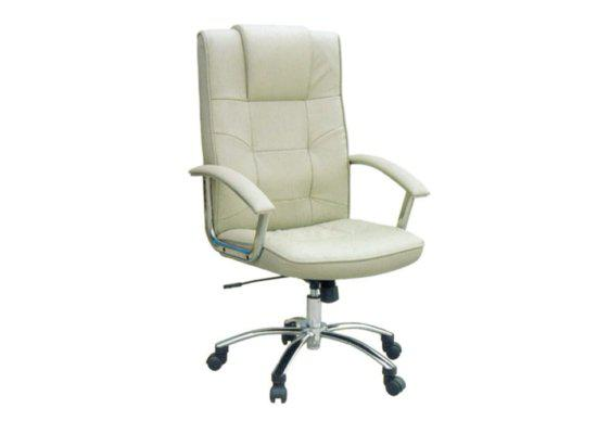 Διευθυντική Καρέκλα Γραφείου από Δερματίνη σε Κρέμ Χρώμα 080460