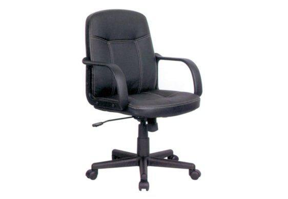 Διαχρονική Πολυθρόνα Γραφείου από Δερματίνη με Χαμηλή Πλάτη 080458