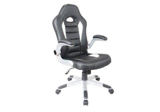 Bucket Καρέκλα Γραφείου σε Λευκό Μαύρο Χρώμα 080446