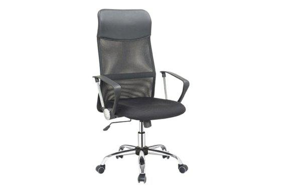 Καρέκλα Γραφείου Ντυμένη σε Πλάτη και Κάθισμα με Mesh V-080405