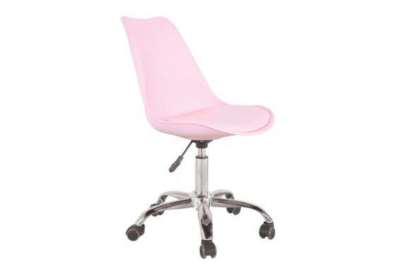 Ροζ Καρέκλα Γραφείου από Πολυπροπυλένιο με Αμορτισέρ 080432