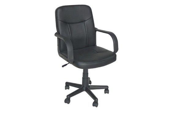Μαύρη Καρέκλα Γραφείου από Τεχνητό Δέρμα Ζ-080444