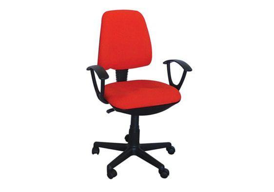 Καρέκλα Γραφείου Ενδεδυμένη με Ύφασμα σε Κόκκινο Χρώμα 080434
