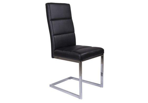 Καρέκλα από Τεχνόδερμα και Ιδιαίτερη Βάση Χρωμίου V-190379