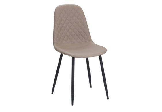 Καρέκλα Ντυμένη με Τεχνόδερμα και Μεταλλική Βάση V-19039