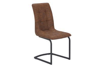 Καρέκλα από Τεχνητό Δέρμα με Μεταλλική Βάση V-190371