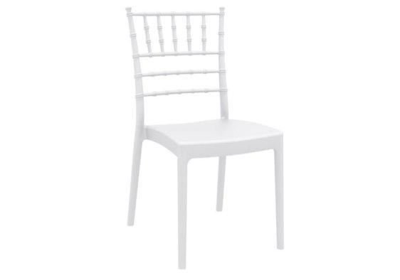 Καρέκλα από Πολυπροπυλένιο και Fiber σε Λευκό Χρώμα 224011