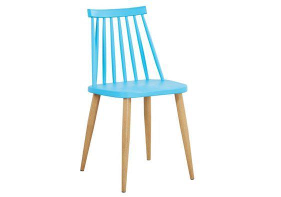 Καρέκλα με Μεταλλικό Σκελετό σε Απόχρωση Ξύλου Z-222075