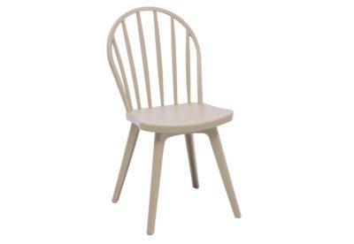 Καρέκλα με Οβάλ Σχέδιο σε Γκρι Χρώμα Z-190396