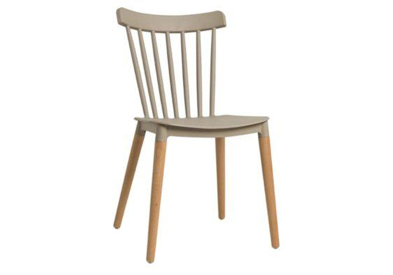 Καρέκλα από Πολυπροπυλένιο και Πόδια από Ξύλο Οξιάς V-135151