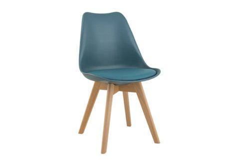 Καρέκλα από Πολυπροπυλένιο και Βάση από Ξύλο Οξιάς V-135152
