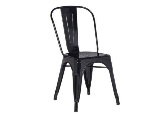 Μεταλλική Καρέκλα σε Βιομηχανικό Στυλ σε Μαύρο Χρώμα Z-190394