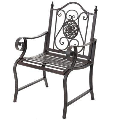 Καρέκλα Κήπου Μεταλλική Καφέ  Η-147633